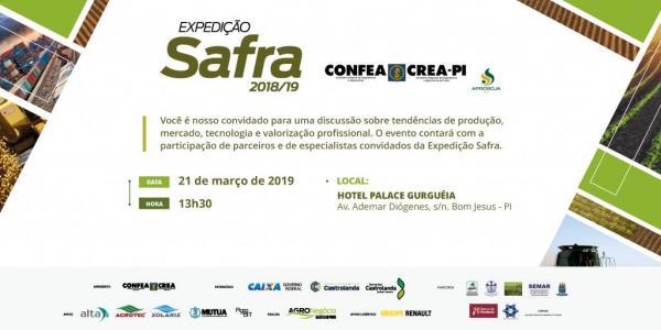 Crea-PI promove Expedição Safra 2018/19, em Bom Jesus