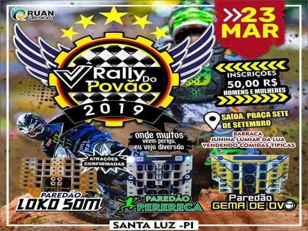 'Rally do Povão' acontecerá na cidade de Santa Luz