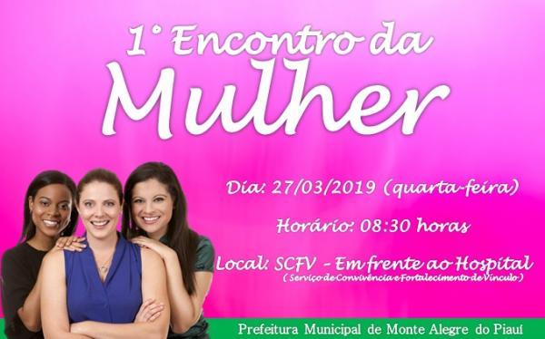 1º Encontro da Mulher será realizado em Monte Alegre do PI