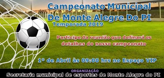 Secretaria de esportes de Monte Alegre convida times para reunião