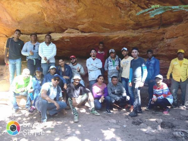 Acadêmicos fazem visita a sítios arqueológicos em Redenção do Gurguéia