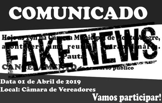 Fake News sobre o concurso de Monte Alegre