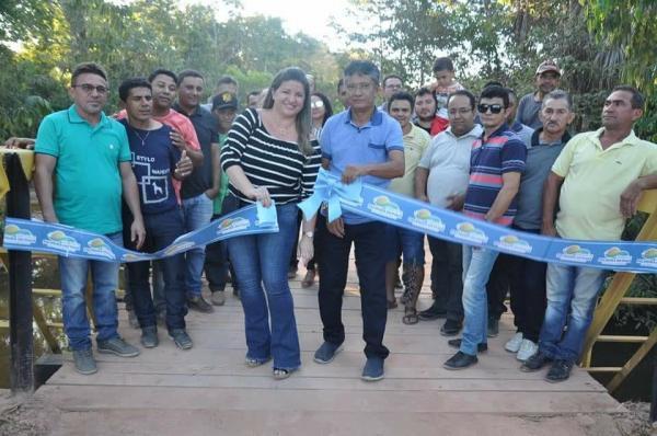 Ponte mista é inaugurada na zona rural de Palmeira