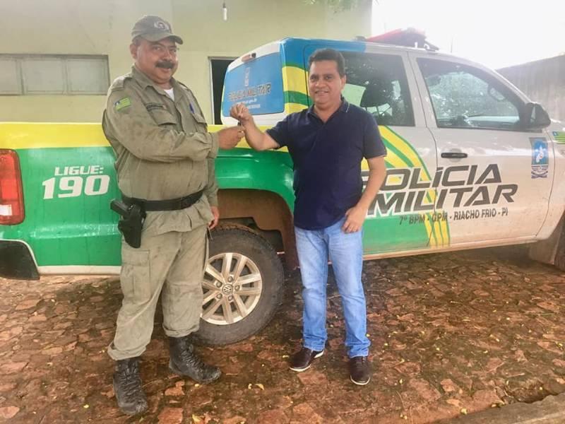Polícia Militar de Riacho Frio é contemplada com viatura