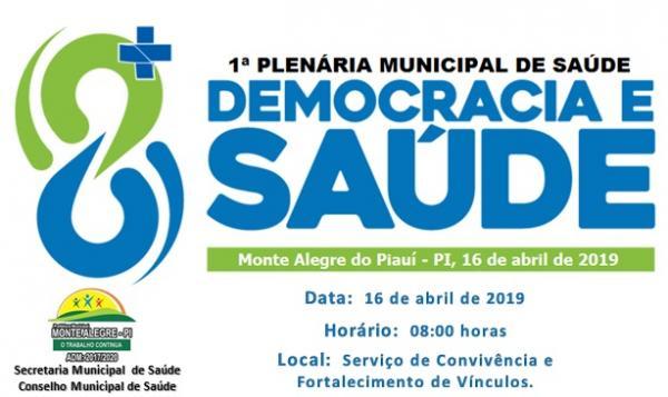 Monte Alegre do PI: 1ª Plenária Municipal de Saúde