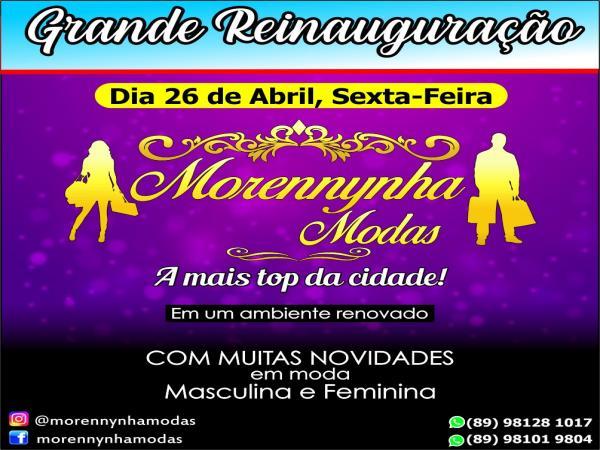Reinauguração da Morennynha Modas será nesta sexta (26); CONFIRA!