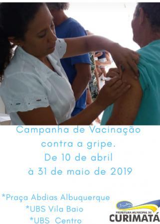 Curimatá: Secretaria de Saúde estima vacinar 90% do público-alvo