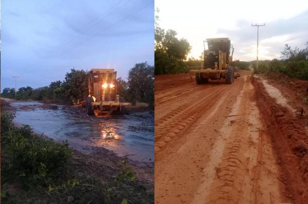 Prefeitura de Gilbués segue recuperando estradas da zona rural