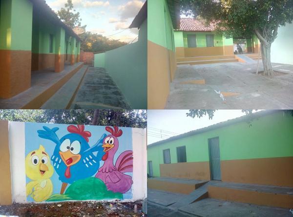Prefeitura de Currais conclui reforma da Creche Tio Jorge
