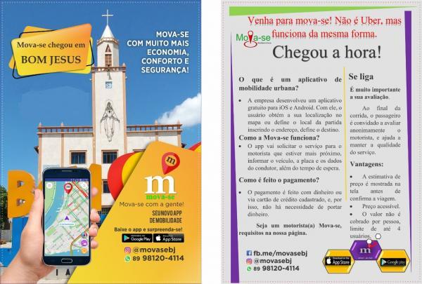 Conheça o MOVA-SE, novo App de Mobilidade Urbana de Bom Jesus