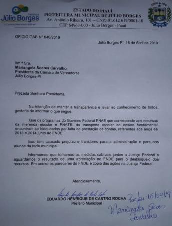 Alunos de Júlio Borges correm risco de ficar sem merenda; ENTENDA