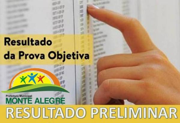 CONFIRA o resultado preliminar do concurso de Monte Alegre