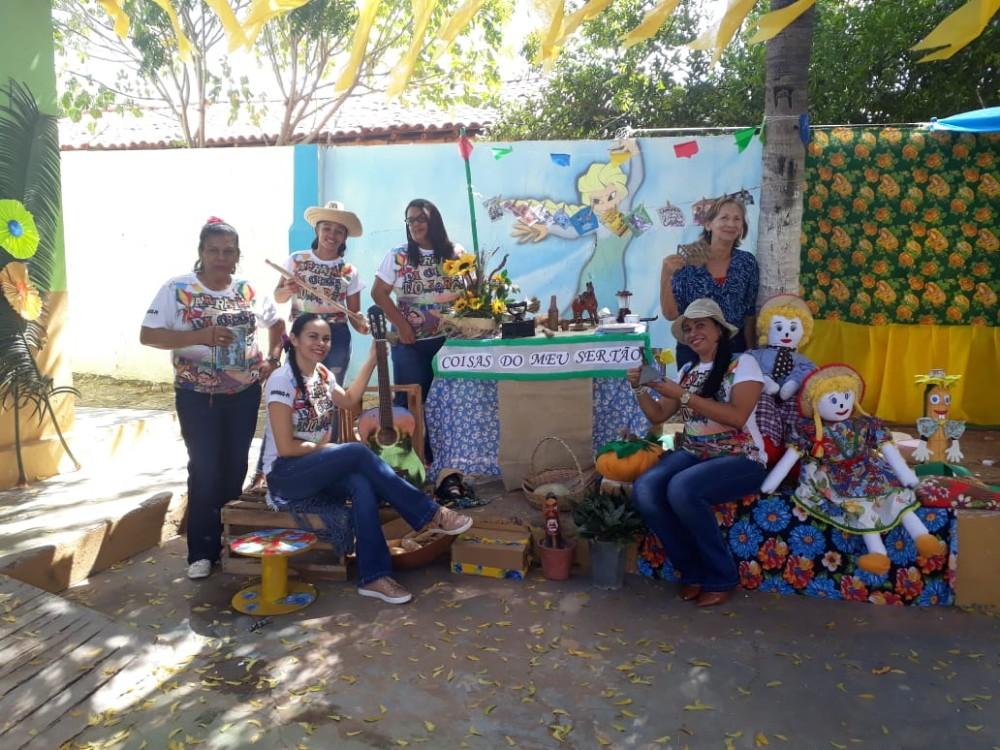 Currais: Lindo Arraiá encerra 1º semestre da Creche Jorge Rodrigues