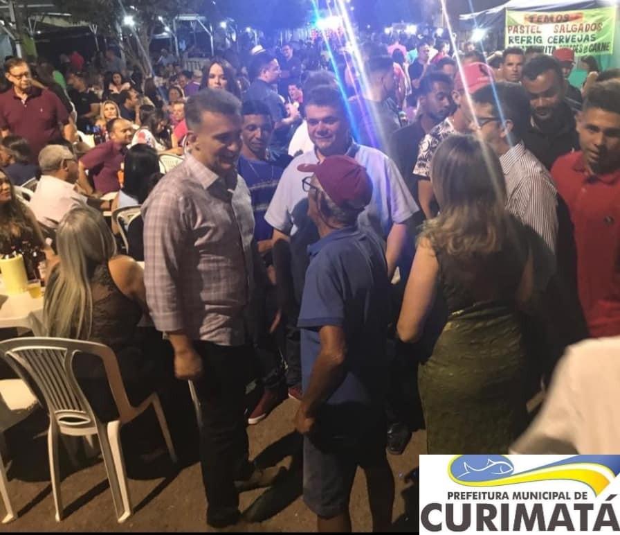Gustavo Neiva e Fábio Xavier participam dos festejos de Curimatá-PI