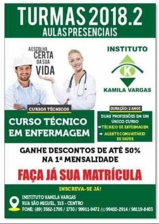 Instituto Kamila Vargas abre novas turmas para curso Técnico