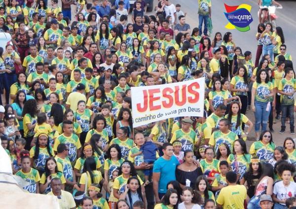'Cristino Castro é de Cristo', veja como foi a I Marcha para Jesus