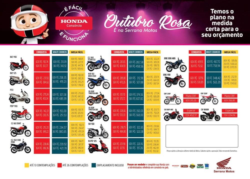 BROS 160 e Biz 110i com condições especiais na Serrana Motos; aproveite!