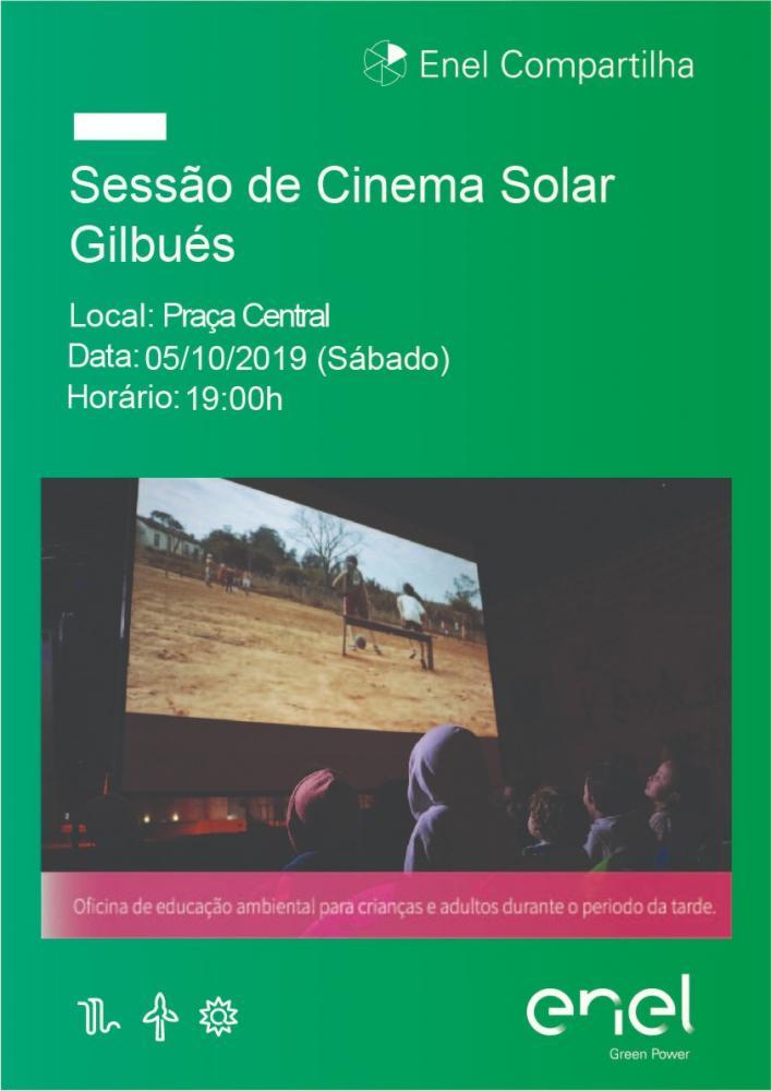 Cinema ao ar livre será realizado hoje (04) para a população de Gilbués
