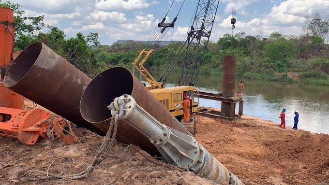 No Twitter, ministro destaca avanço nas obras da ponte de Santa Filomena