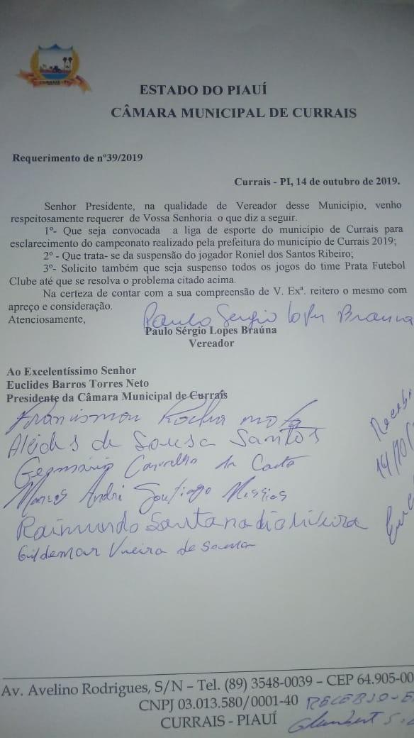 Veja como foi a sessão da Câmara de Currais desta segunda (14)