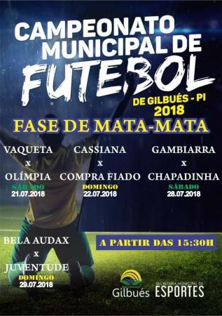 Campeonato municipal parte pra fase eliminatória em Gilbués