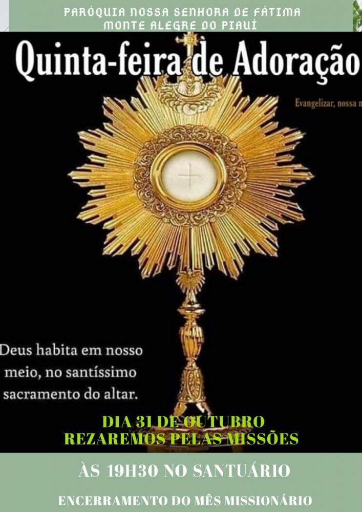 Quinta da Adoração e Missas de Finados em Monte Alegre