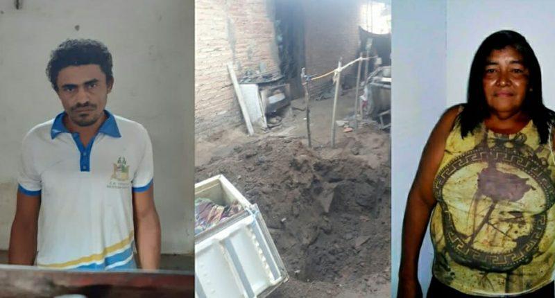 Filho mata a mãe e enterra dentro de geladeira no quintal de casa
