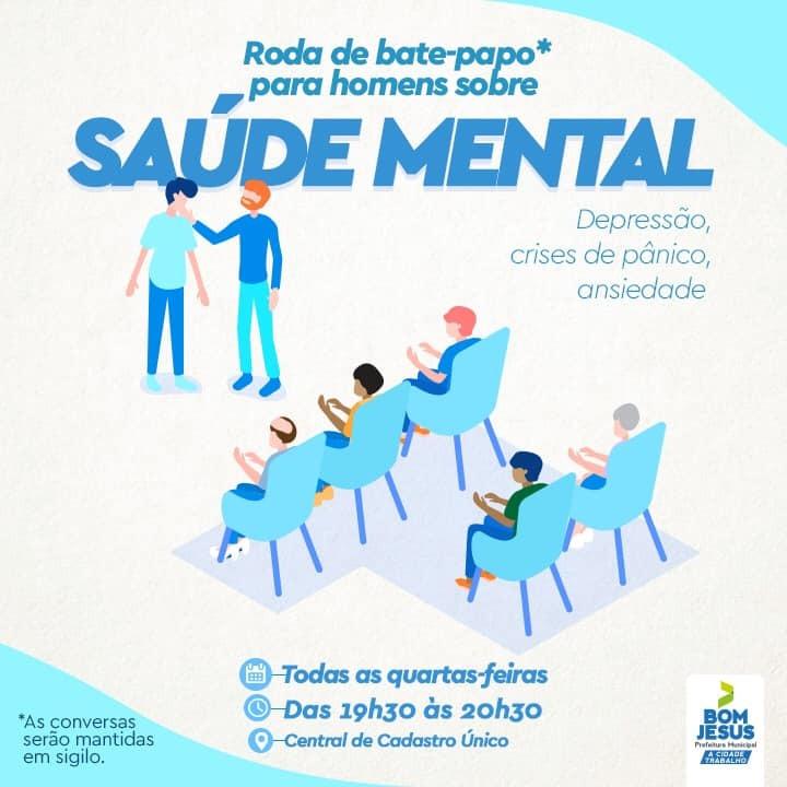 Rodas de bate-papo para homens tratam da saúde mental em Bom Jesus