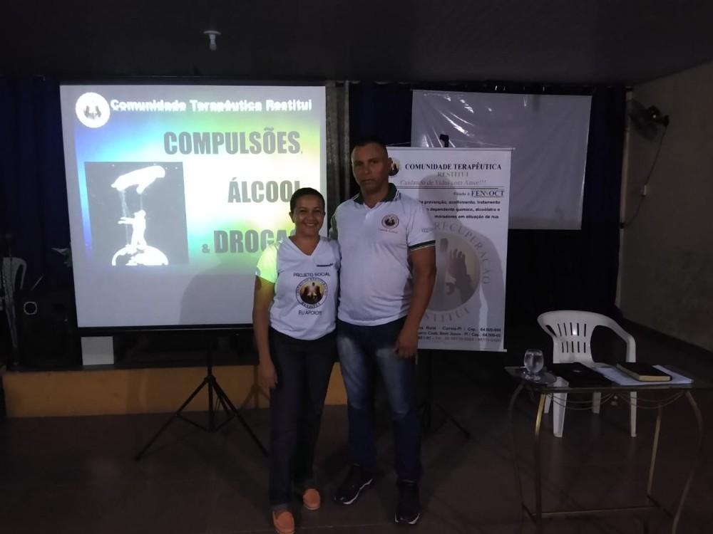 CT Restitui realiza curso sobre dependência química em Bom Jesus