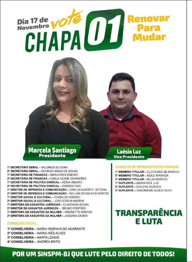Prof.ª Marcela Ribeiro é candidata a presidente do SINSPM-BJ
