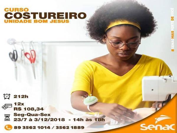 SENAC de Bom Jesus iniciará cursos nessa próxima segunda-feira (23)