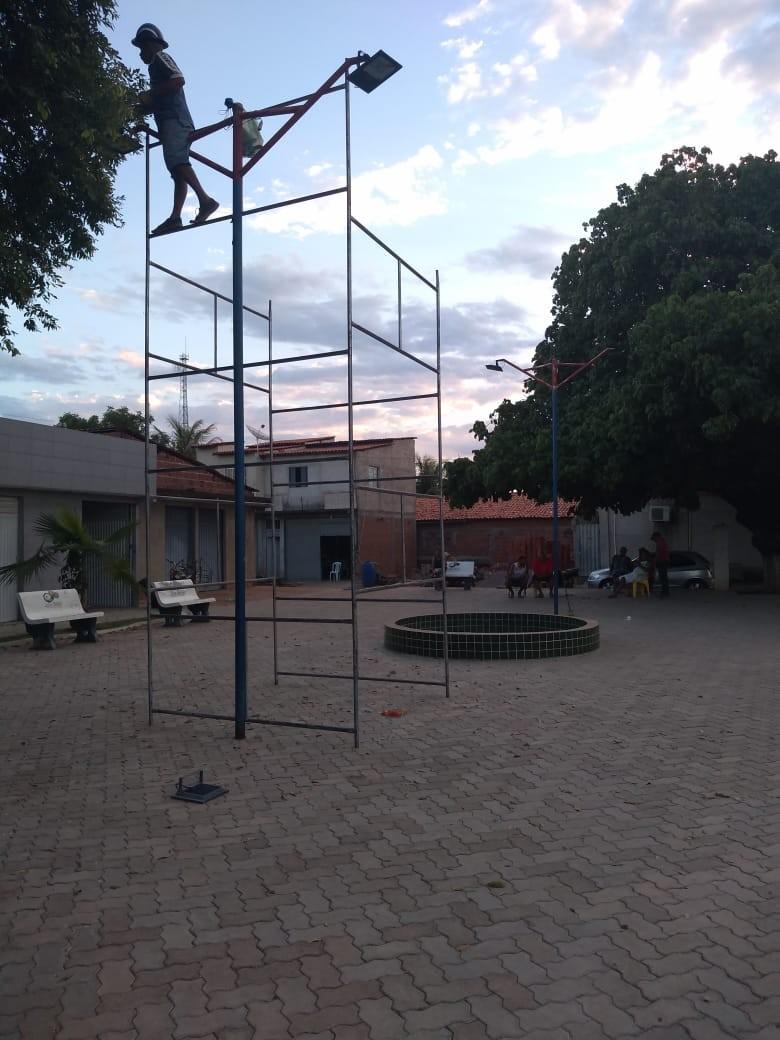 Bairro Nova Júlio Borges recebe melhorias na iluminação pública