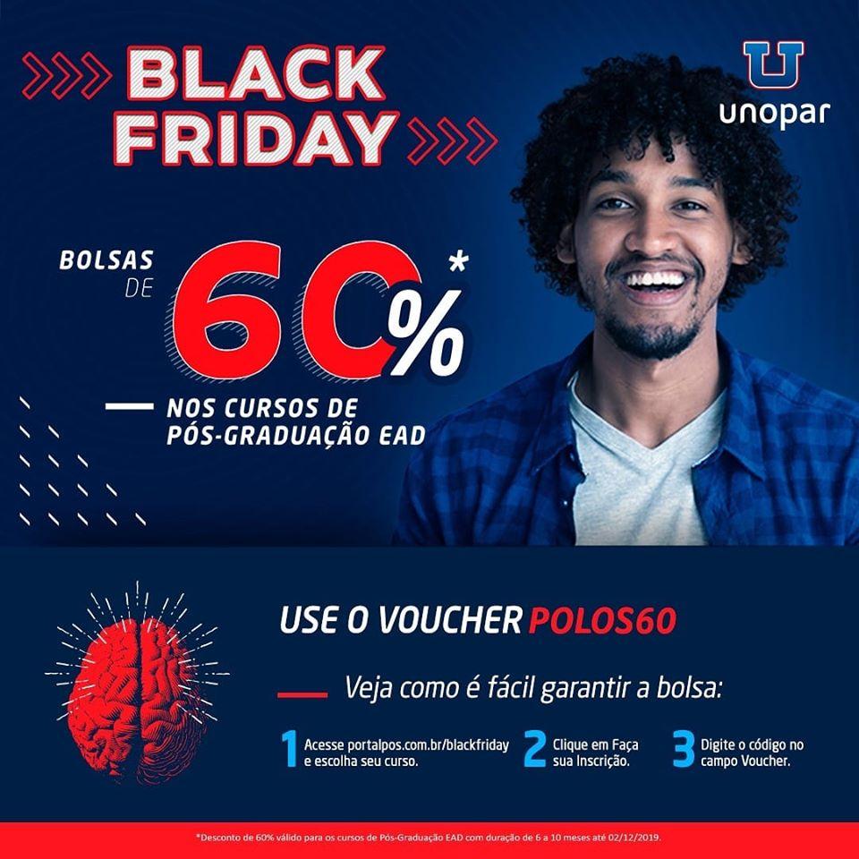 Black Friday: Faça sua pós-graduação na UNOPAR com 60% de desconto!