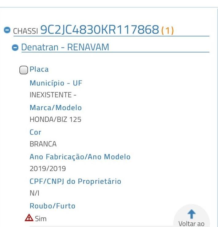 Moto 'Biz' roubada em Monte Alegre é recuperada em Redenção do Gurguéia