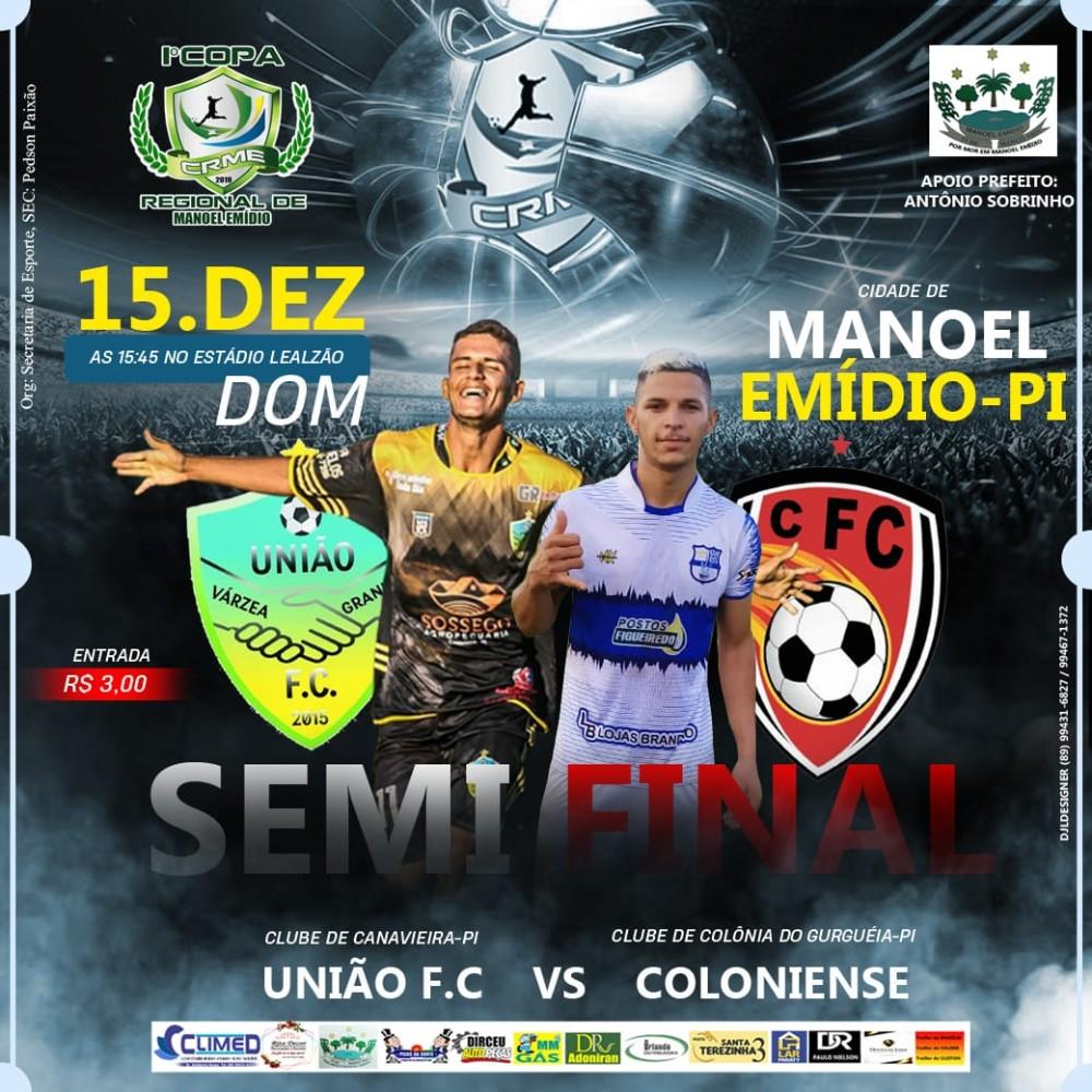 Copa Regional de Manoel Emídio chega a semifinal; veja confrontos