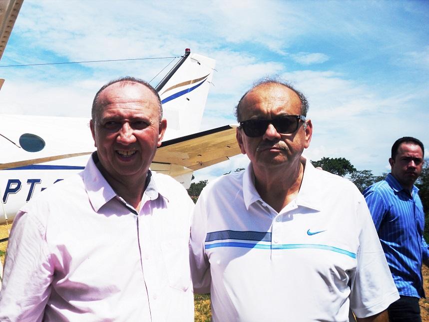 Fernando Monteiro (à direita) e Dióstenes Alves