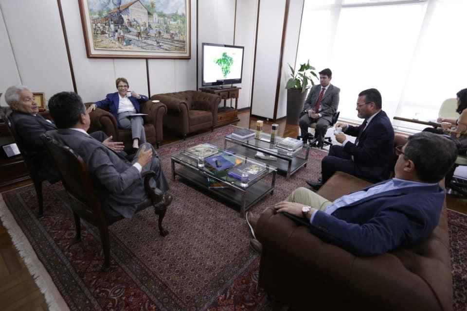 Marcos Elvas tem Audiência no Ministério da Agricultura