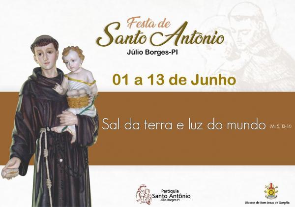 Está acontecendo em Júlio Borges os Festejos de Santo Antônio