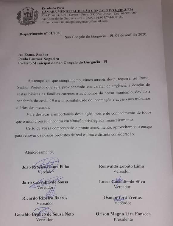 Vereadores requerem doações de cestas básicas em São Gonçalo
