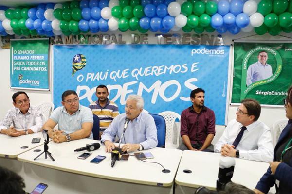 Elmano Férrer volta atrás e confirma pré-candidatura ao governo do estado.