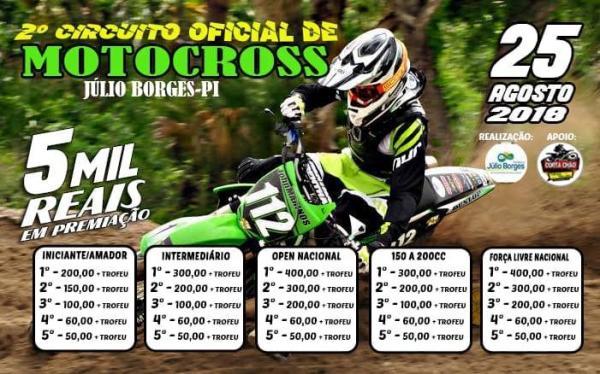 Prefeitura de Júlio Borges realizará 2º Circuito de MotoCross
