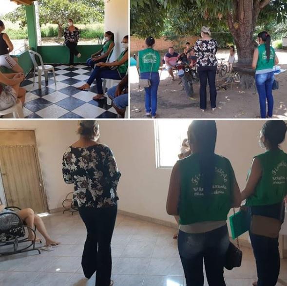 Vigilância Sanitária visita e orienta famílias em Santa Luz