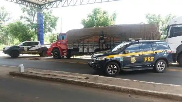 PRF apreende 11,5 toneladas de madeira irregular no Piauí