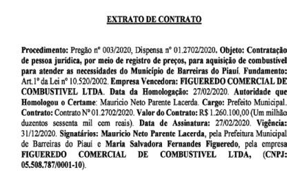 Prefeitura de Barreiras vai gastar mais de 1,2 milhão com combustível