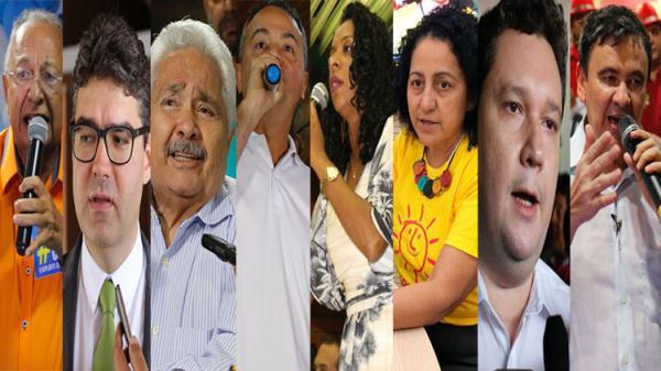 Partidos lançam 8 candidatos ao governo do Piauí