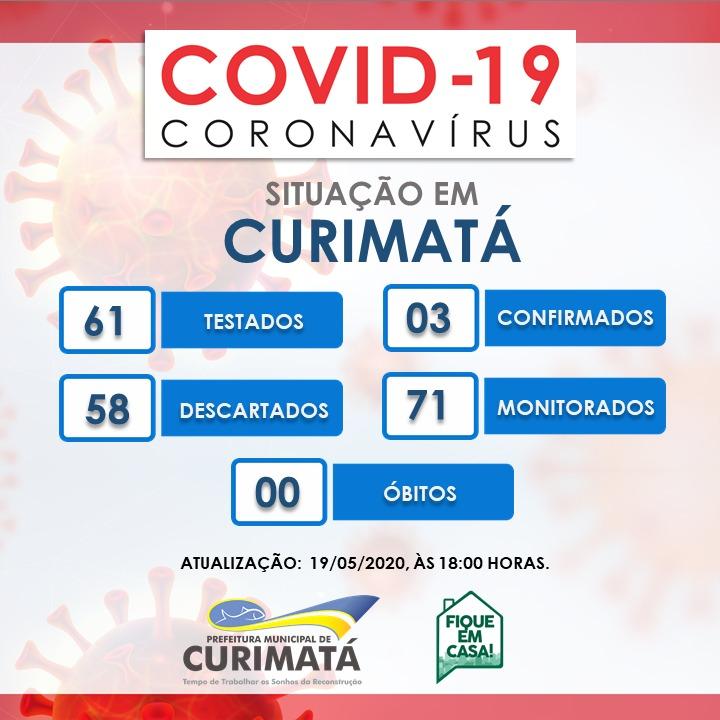 Curimatá tem 3º caso confirmado de Covid-19