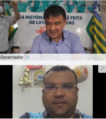 Dr. Macaxeira participa de reunião por videoconferência com o governador Wellington Dias