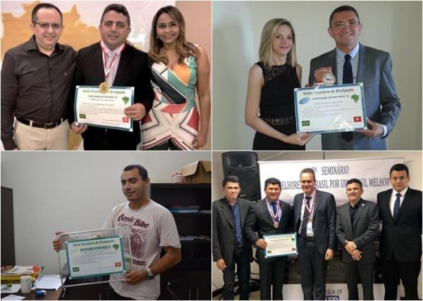 Prefeitos receberam medalha do mesmo instituto que premiou 'jumento'.