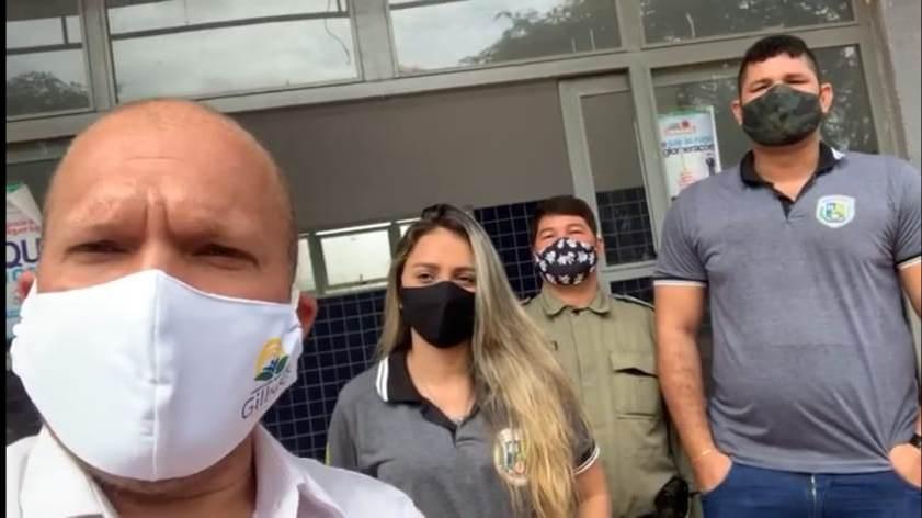 Gilbués: Léo Matos recebe equipe da Secretaria de Segurança Pública do Piauí