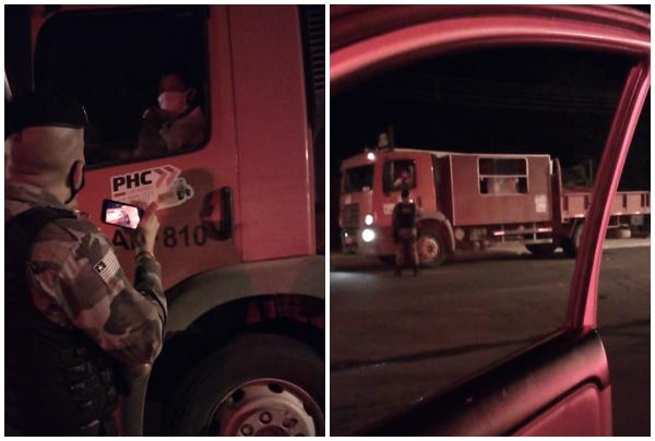 Polícia flagra caminhão trazendo infectados da Bahia para o PI